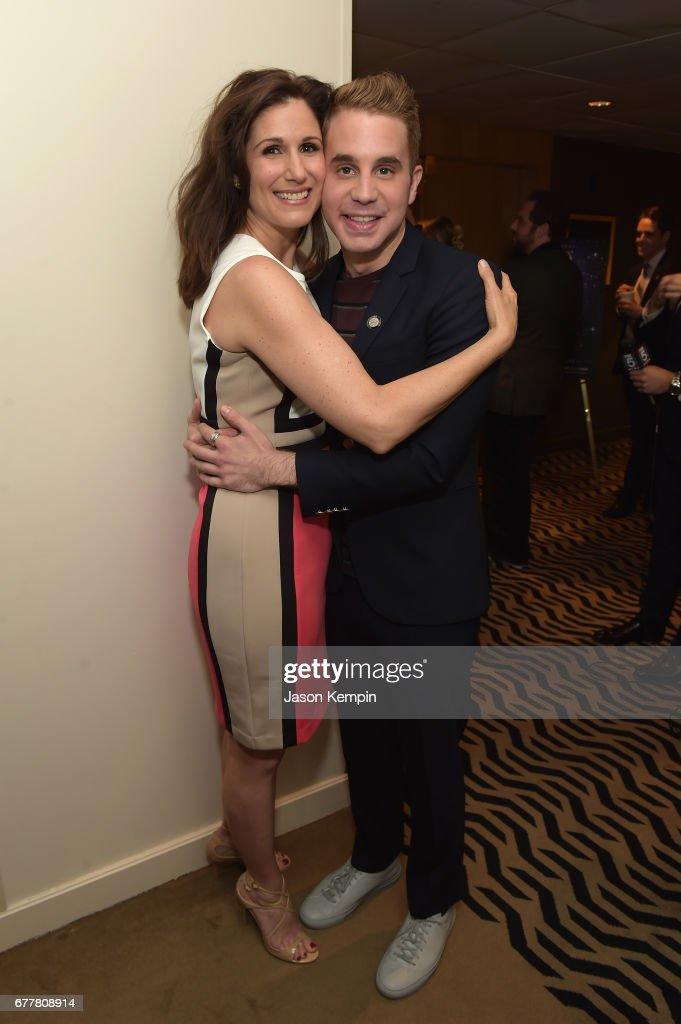 Nominees Stephanie J. Block and Ben Platt attend the 2017 Tony Awards Meet The Nominees Press Junket at the Sofitel New York on May 3, 2017 in New York City.