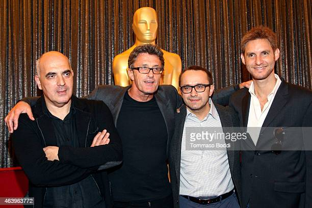 Nominees Zaza Urushadze, Pawel Pawlikowski, Andrey Zvyagintsev and Damian Szifron attend the 87th Annual Academy Awards Oscar Week Foreign Language...