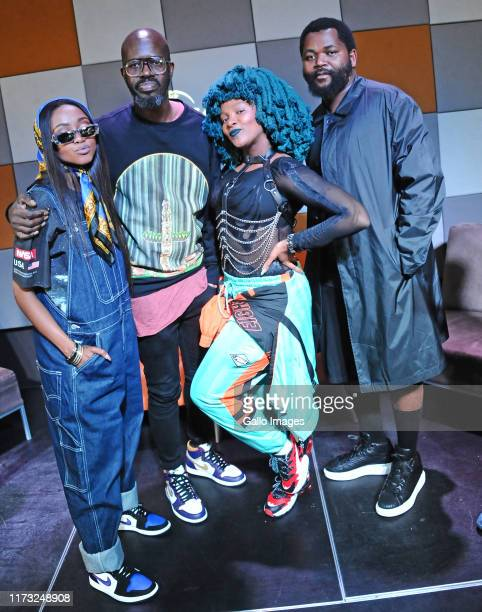 Nomuzi Mabena Dj Black Coffee Moonchild Sanelly Sjava during the Music Is King media launch held at the Universal Studios on October 02 2019 in...