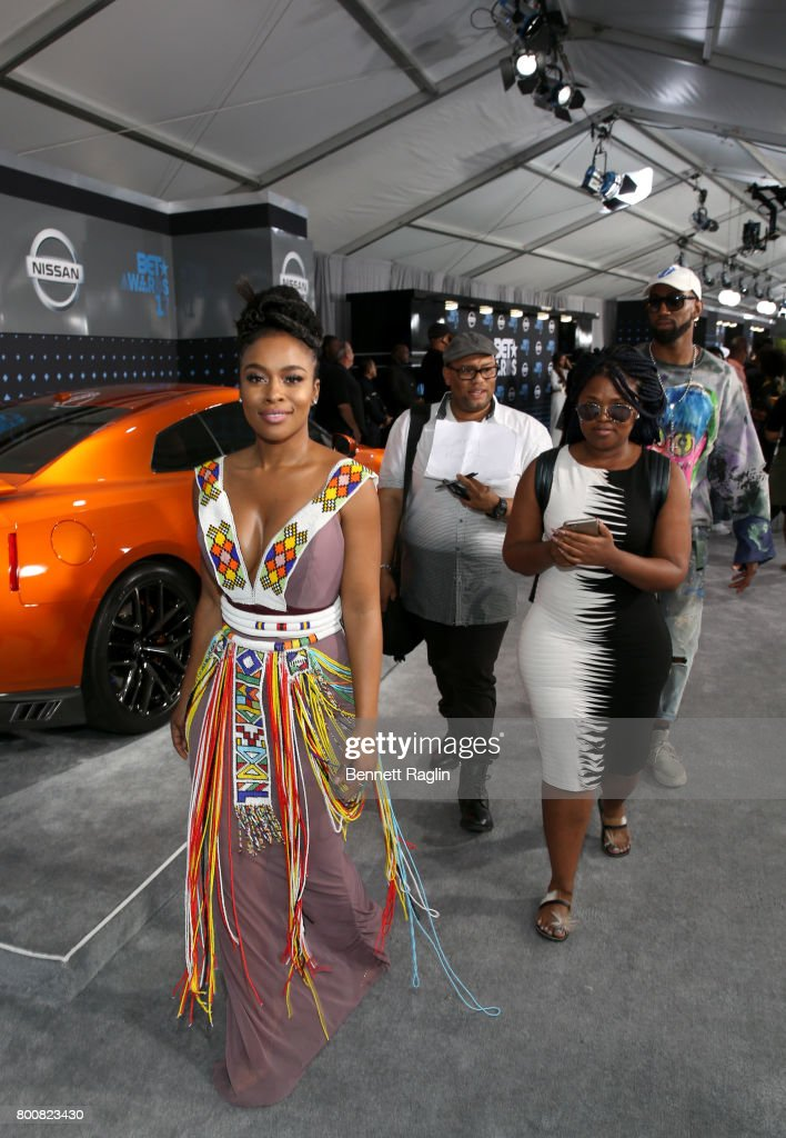 Nomzamo Mbatha at the 2017 BET Awards at Staples Center on June 25, 2017 in Los Angeles, California.