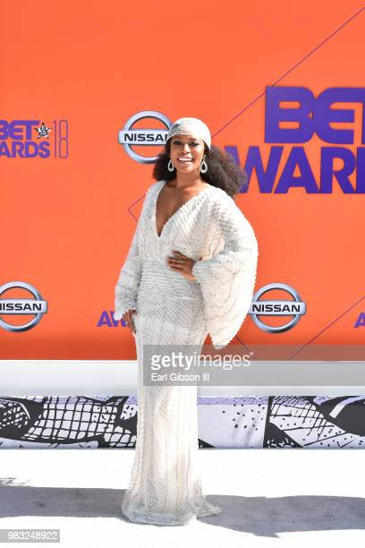 Nomzamo Mbatha attends the 2018 BET Awards at Microsoft Theater on June 24 2018 in Los Angeles California