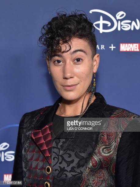 Non binary performer Vico Ortiz arrives for Disney Los Angeles premiere of Diary of a Future President at the ArcLight Cinema in Hollywood California...