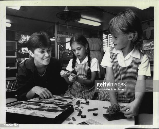 Non sexist education at Minto Infants SchoolLR Mrs Shirley Steel Natalie Short and JoAnne Mooney make up a project with Lego February 22 1985