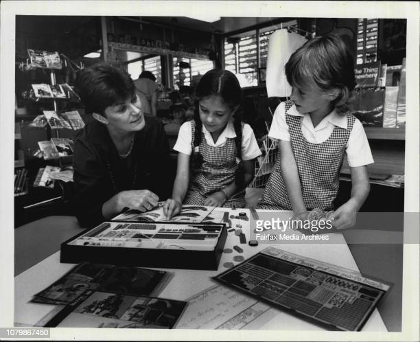 Non sexist education at Minto Infants SchoolLR teacher Ms Shirley Steel Natalie Short 7 and JoAnne Mooney make up a project with Lego February 22 1985