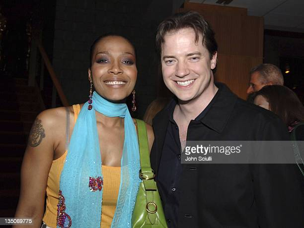 Nona Gaye and Brendan Fraser during Crash Los Angeles Premiere After Party in Los Angeles California United States