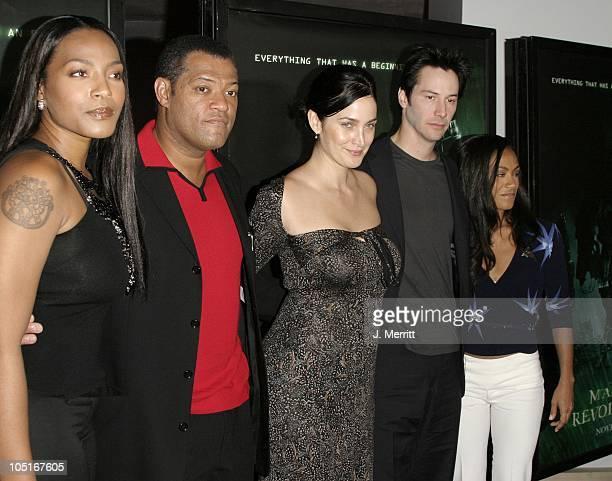 Nona Gaye Laurence Fishburne CarrieAnne Moss Keanu Reeves Jada Pinkett Smith
