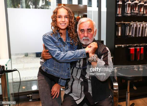 Nona Kanal and Udo Walz attend the Influencer event 'Create Your New Look' hosted by Udo Walz on September 23 2017 at the Udo Walz Salon in Berlin...