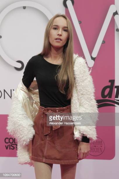 Nona Kanal arrives at the pink carpet for the GLOW The Beauty Convention at Station on October 27 2018 in Berlin Germany