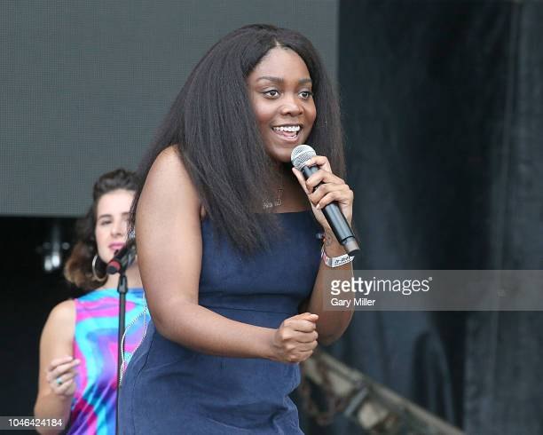 Noname performs in concert during the first day of ACL Festival at Zilker Park on October 5, 2018 in Austin, Texas.