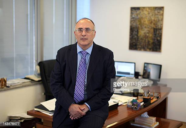 Nondas Metaxas director of the Cyprus Stock Exchange poses for a photograph at the company's office in Nicosia Cyprus on Tuesday April 24 2012...