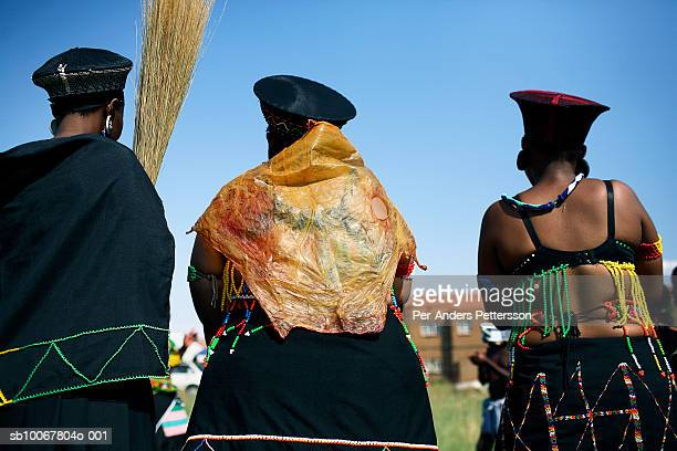 Nondumiso Rakale age 21 goes through a coming of age ceremony outside her house on December 16 2006 in Jabulani section of Soweto Johannesburg South...