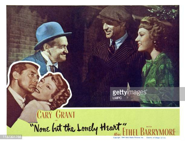 None But The Lonely Heart US lobbycard from left Barry Fitzgerald Cary Grant June Duprez 1944
