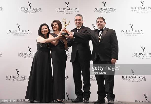 NonEnglish Language Primetime Program Award Winners for Apprendidos El Infierno De Montoya including Juana Maria Torres and Samuel Duque Roso...