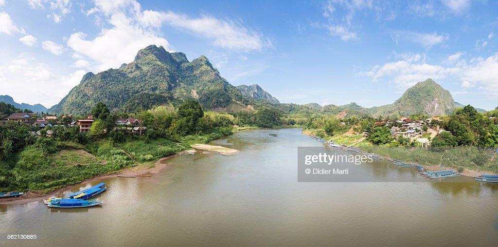 Nong Khiaw panorama : Stock Photo
