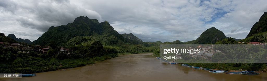 Nong Khiaw panorama : Stock Photo