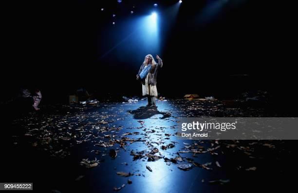 Noni Hazlehurst performs a scene from Mother at Belvoir Street Theatre on January 24 2018 in Sydney Australia