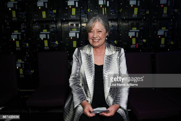 Noni Hazlehurst prepares to go on stage during the 7th AACTA Awards Presented by Foxtel at The Star on December 6 2017 in Sydney Australia