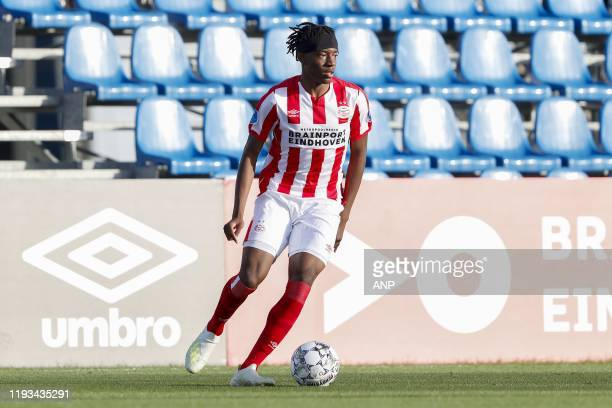 Noni Madueke of PSV during a international friendly match between PSV Eindhoven and KAS Eupen at Aspire Academy on January 11, 2020 in Doha, Qatar