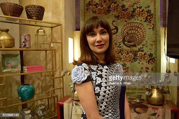 Nonita Kalra Editor Harper's Bazaar India at master couturier Rohit Bal's first home collectibles and apparel line called HusnETaairaat at Good Earth...