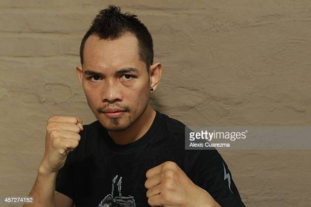 Nonito Donaire poses for a portrait during an open media workout on October 15 2014 in Santa Monica California