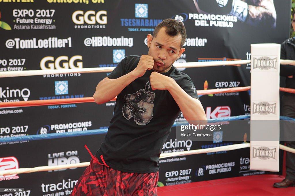 Gennady Golovkin Fight Week Media Workouts : News Photo