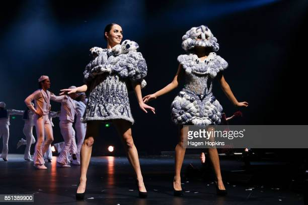 'Nonlinear Philosophy' by Wenzhi Gao of China is modelled in the Avantgarde Section during the World of WearableArt Awards 2017 at TSB Bank Arena on...