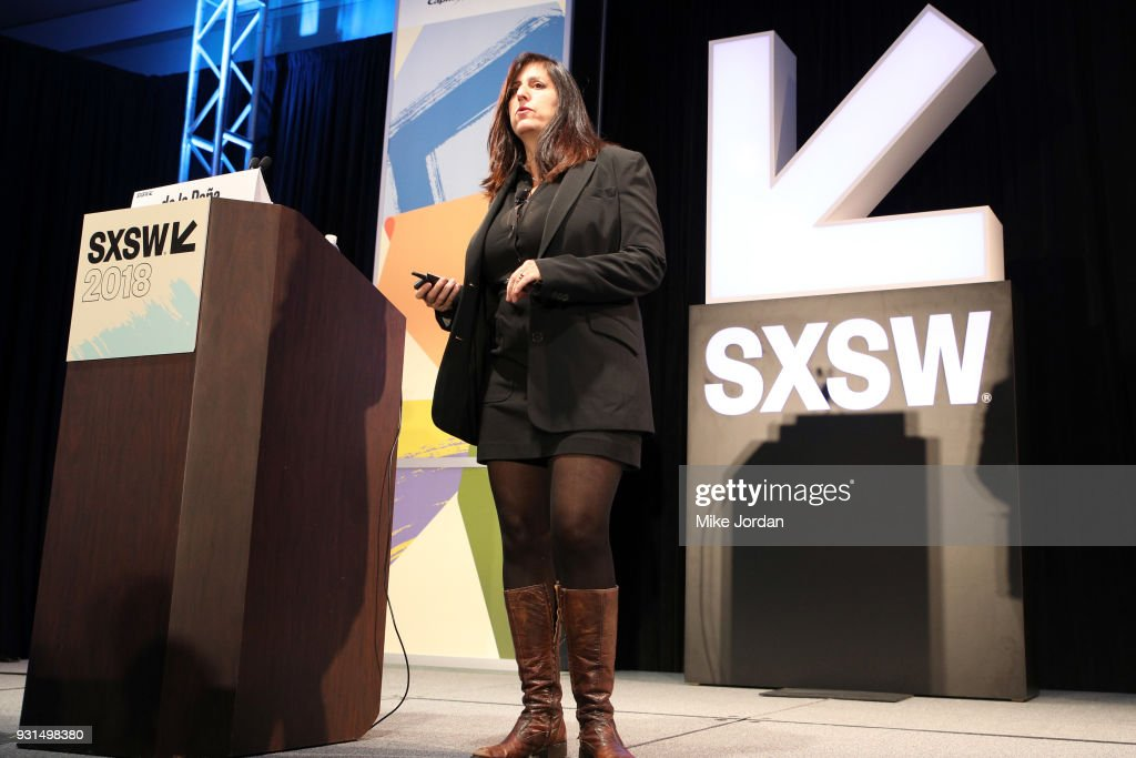 Nonny de la Pena speaks onstage at the Convergence Keynote during SXSW at Austin Convention Center on March 13, 2018 in Austin, Texas.