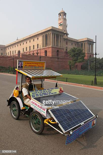 A nonpolluting solar powered car designed by a school dropout from Bengaluru Sajjad Ahmed the innovator has already made a 3000 km test run from...
