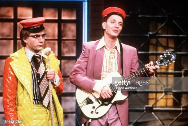 Nonsens Musik-Duo sind die beiden Komiker WIGALD BONING und OLLI DIETRICH, 1992.