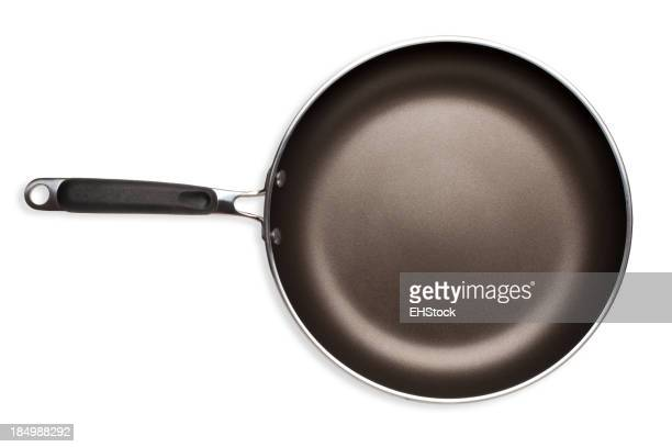 Non-Stick Teflon Frying Pan Skillet Saucepan Isolated on White Background