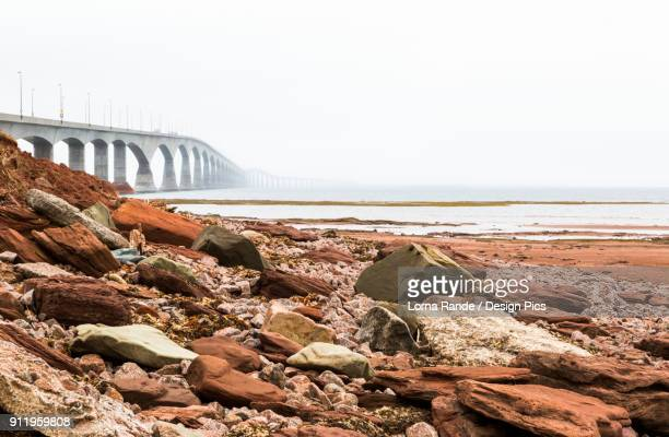 Nonthe Confederation Bridge In Prince Edward Island Leading To New Brunswick