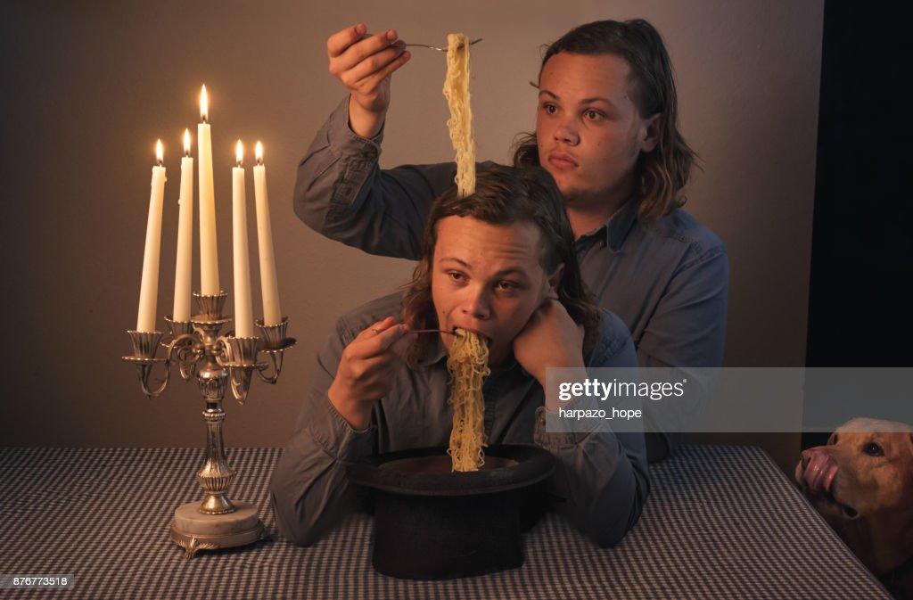 Noodle Brain : Stock Photo