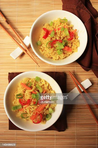 noodles and chopsticks - jill harrison stock pictures, royalty-free photos & images