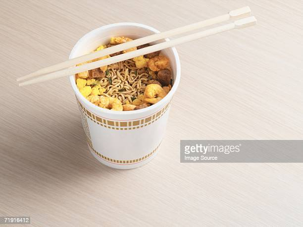 noodles in a cup - convenience stock pictures, royalty-free photos & images
