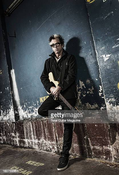 Noodles lead guitarist of American punk rock band The Offspring photographed during a portrait shoot for Total Guitar Magazine June 5 2012