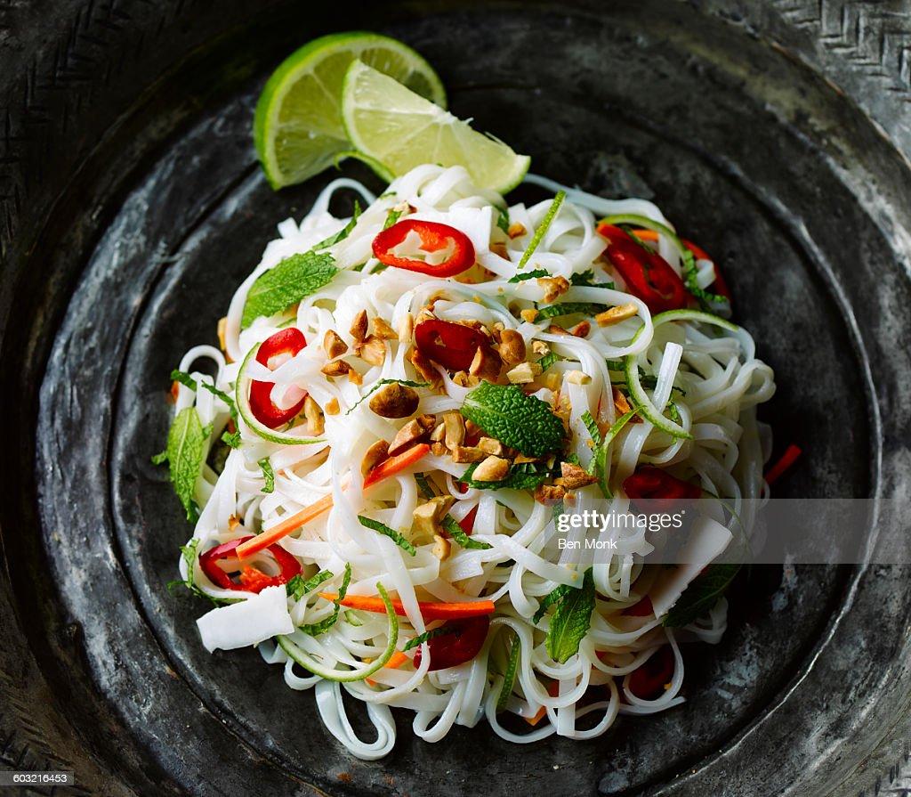 noodles salad : Stock Photo
