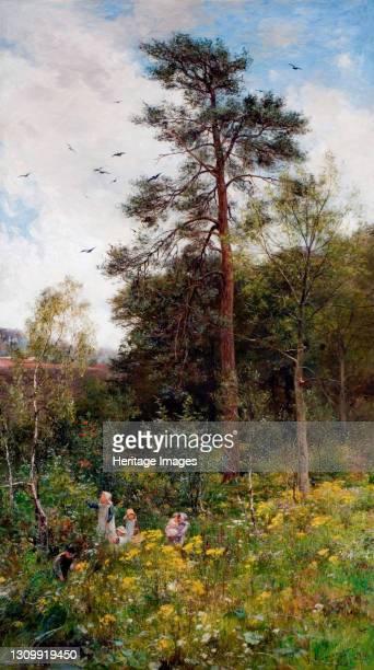 Nook In Nature's Garden, 1879. Artist James Aumonier. .