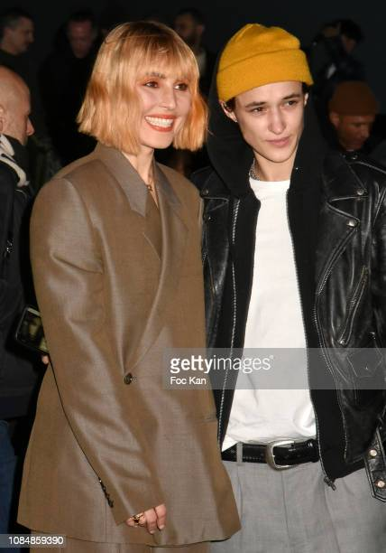 Noomi Rapace and Agathe Mougin attend the Dior Homme Menswear Fall/Winter 20192020 show as part of Paris Fashion Week on January 18 2019 in Paris...