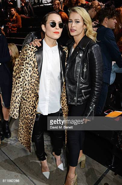 Noomi Rapace and Alice Dellal attend the Mulberry LFW Autumn/Winter 2016 Show at The Guildhall on February 21 2016 in London England