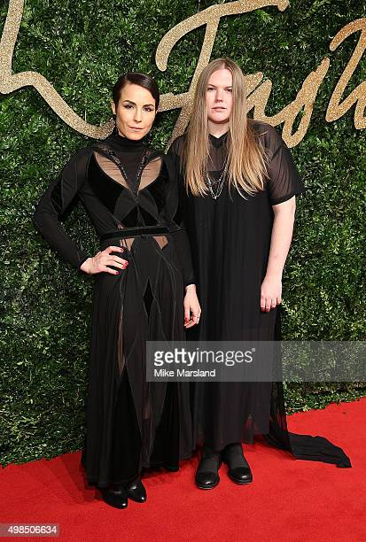 Noomi Rapace and Astrid Andersen attend the British Fashion Awards 2015 at London Coliseum on November 23 2015 in London England