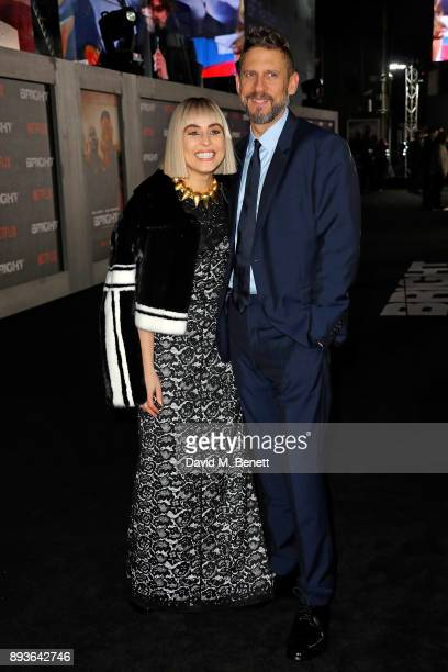 """Noomi Rapace and David Ayer attend the European Premeire of """"Bright"""" held at BFI Southbank on December 15, 2017 in London, England."""