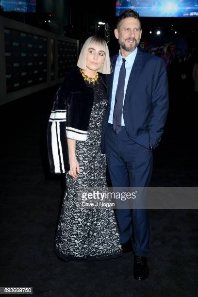 Noomi Rapace and director David Ayer attend the European Premiere of 'Bright' held at BFI Southbank on December 15 2017 in London England