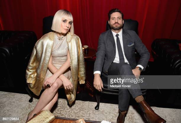 Noomi Rapace and Edgar Ramirez attend the LA Premiere of Netflix Films 'BRIGHT' on December 13 2017 in Los Angeles California