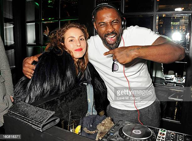 Noomi Rapace and Idris Elba attend the PreBAFTA Party hosted by EE and Esquire ahead of the 2013 EE British Academy Film Awards at The Savoy Hotel on...