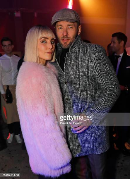 Noomi Rapace and Joel Edgerton attend the European Premeire after party for 'Bright' held at The Bankside Vaults on December 15 2017 in London England