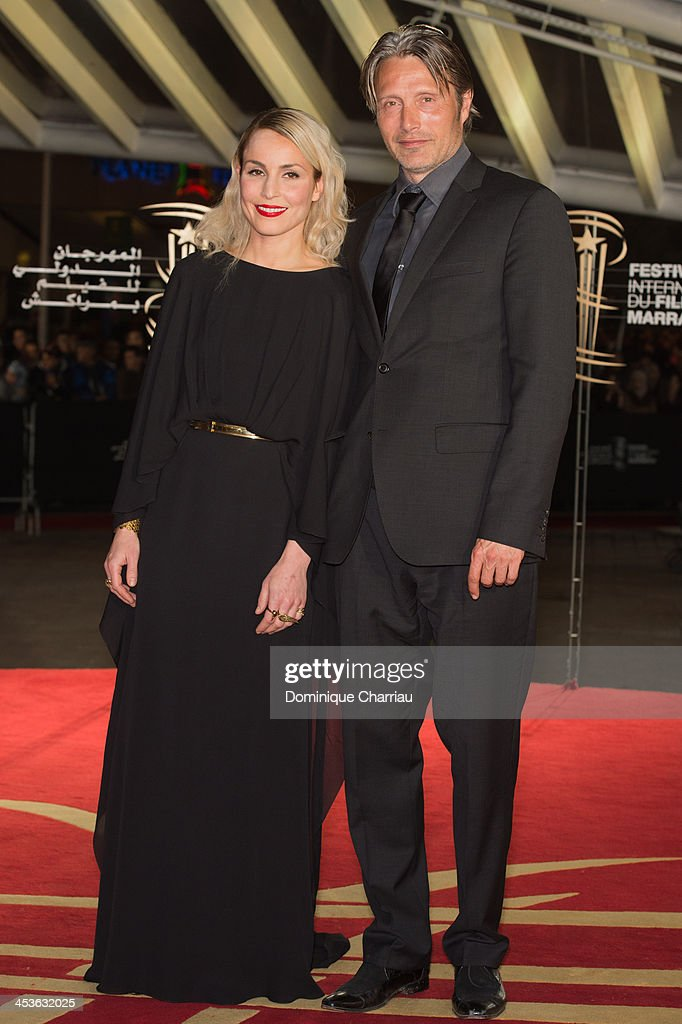 Noomi Rapace and Mads Mikkelsen attend the 'Waltz With Monica' Premiere At 13th Marrakech International Film Festival on December 4, 2013 in Marrakech, Morocco.