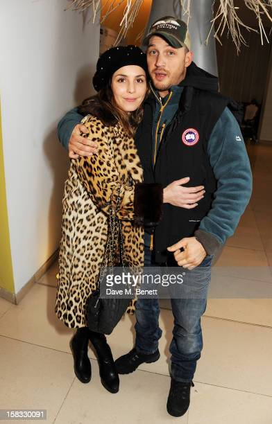 Noomi Rapace and Tom Hardy attend the English National Ballet Christmas Party at St Martins Lane Hotel on December 13 2012 in London England