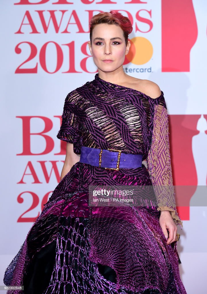 Noomi Rapace attending the Brit Awards at the O2 Arena, London.