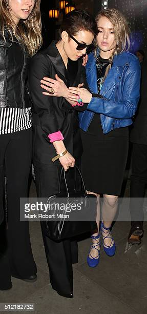 Noomi Rapace attending the The Brit Awards Warner Music Group After Party on February 24 2016 in London England
