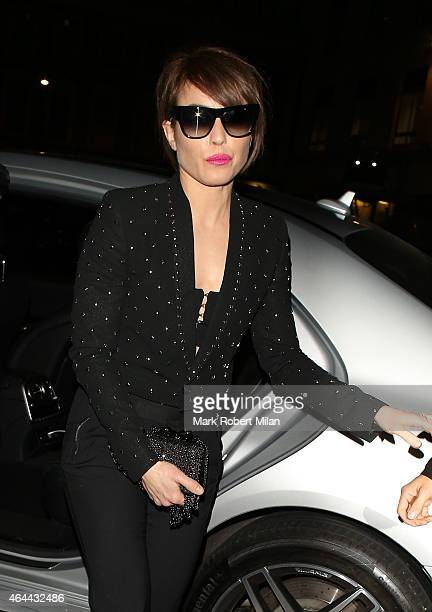 Noomi Rapace attending the Warner Music post BRIT awards party at The Freemasons Hall on February 25 2015 in London England